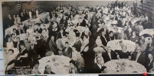 "Georgetown celebrates 125 years. Tribute dinner in honor of ""Mr. Georgetown"" Robert F. Metcalf, August 1, 1963."